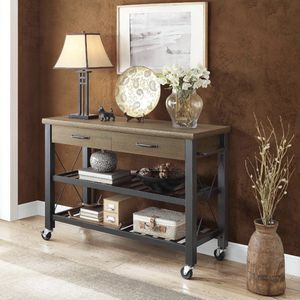 Kitchen Cart with Metal Shelves and TV Stand Feature for Sale in Raleigh, NC