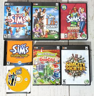 The Sims / Simcity Lot of 8 PC Games PC CDROM EA Games for Sale in Harrisonburg, VA