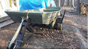 14ft aluminum john boat and trailer for Sale in Manakin-Sabot, VA