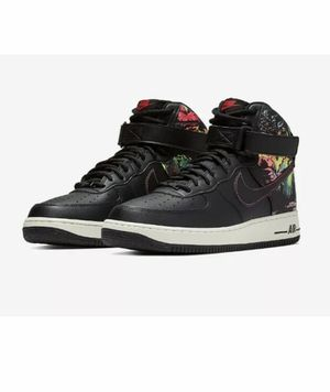 Nike Air Force 1 High 07 LV8 Floral Black Mens Size 8 CI2304 001 Low Mid New without box for Sale in French Creek, WV