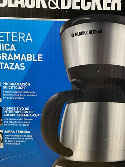 Brand New Black & Decker 8 Cup Programmable Coffee Maker for Sale in Long Beach,  CA