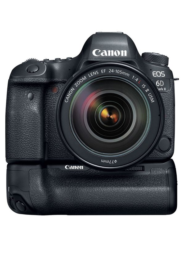 Canon EOS 6D Mark II DSLR Camera with 24-105mm f/4L II Lens & Battery Grip