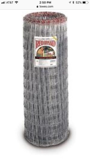 """4' roll 2"""" x 4"""" woven red brand wire. 100' remaining for Sale in Charlotte, NC"""
