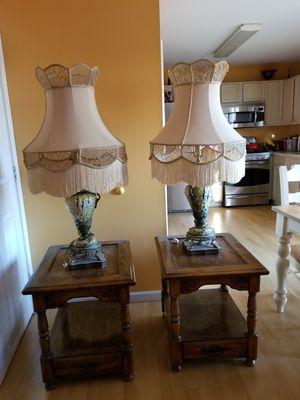 A set of Antiques lamps n end tables for Sale in New Castle, DE