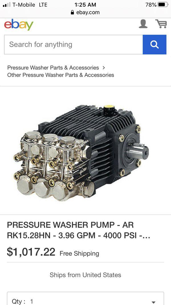 Belt drive pressure washer pump