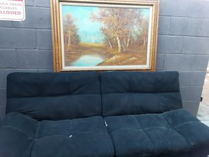 Futon and painting for Sale in El Cajon, CA