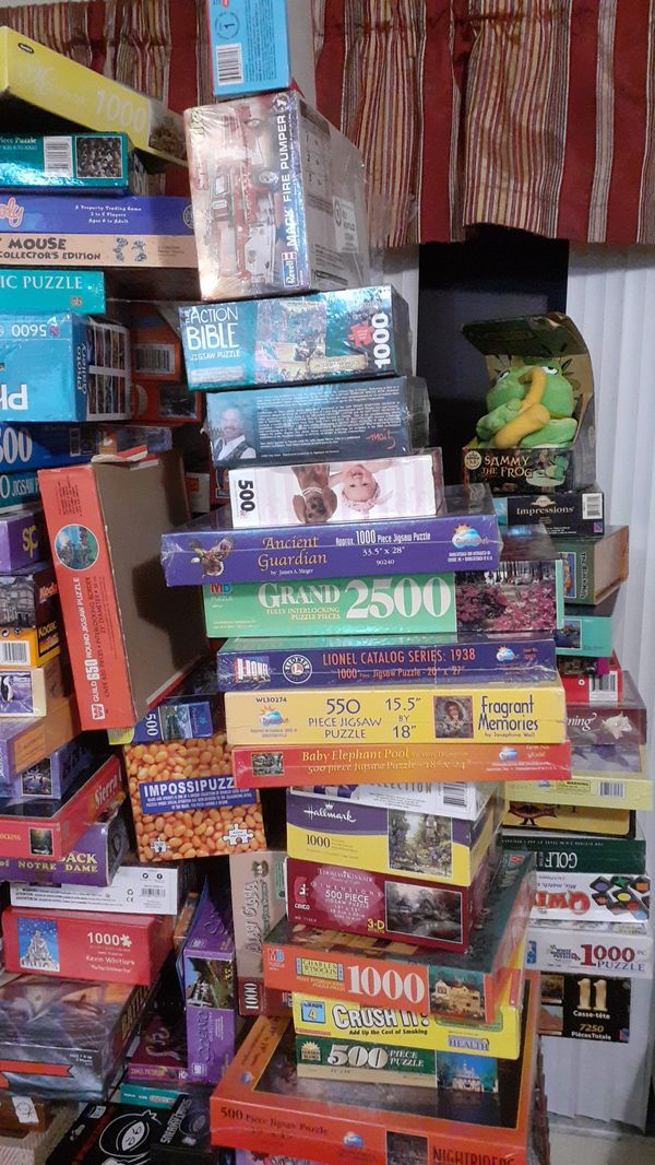 Many Games and puzzles to keep the family busyprices range from $15-$50