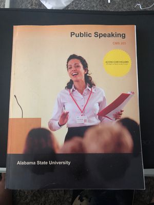 Public speaking text book CMS 205 for Sale in Montgomery, AL