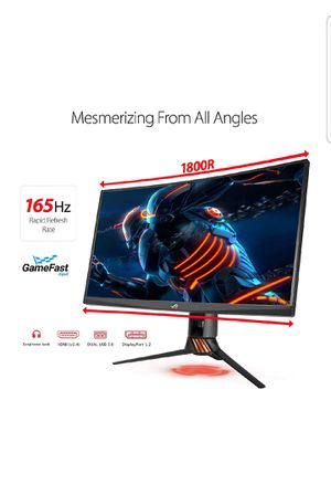 """ASUS ROG Swift PG27VQ 27"""" 1440p 1ms 165Hz DP HDMI G-SYNC Aura Sync Curved Gaming Monitor for Sale in Marietta, GA"""