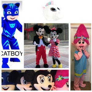 Mascots, Costumes, Mickey & Minnie Mouse, Troll Poppy, Cat Boy, PJ Mask. for Sale in Ellenwood, GA