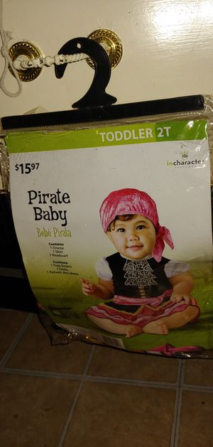 Toddler 2T Pirate Baby costume Dress Up Halloween baby for Sale in Las Cruces, NM