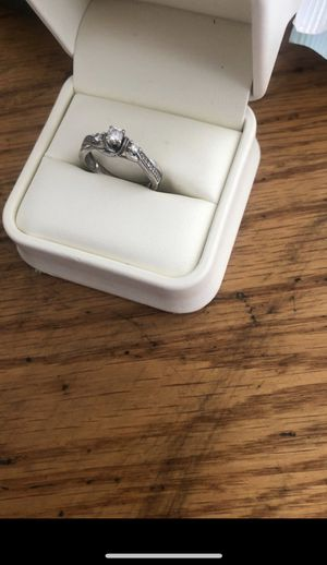 Ring size 7 white gold 14 karat wedding band and engagement ring for Sale in Glendale, AZ