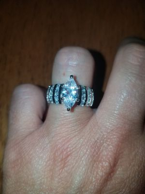 Sterling silver white sapphire ring available in sizes 7, 8, 9 for Sale in Dundalk, MD