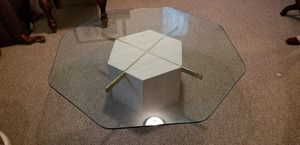 Glass and Marble Coffee Table for Sale in Pittsburgh, PA