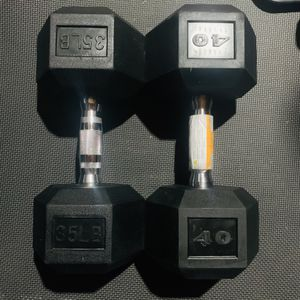 35 pound dumbbell and 40 pound dumbbell 💪 for Sale in Hacienda Heights, CA