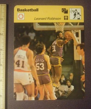 1979 Sportscaster Leonard Len Robinson New Orleans Jazz Sport Photo Large Oversized Basketball Card HTF Collectible Vintage Italy NBA for Sale in Salem, OH