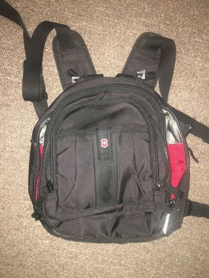 Swiss Army Victorinox Mini Backpack Black Mutil Storage Travel Outdoor Gear for Sale in Chicago, IL