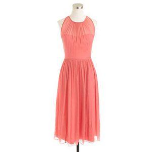 JCREW Designer Coral Pink Dress Silk Chiffon for Sale in Pinecrest, FL
