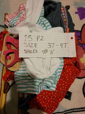 BABY GIRL CLOTHES SIZE 3-4T. 15 PIECES for Sale in Miami, FL
