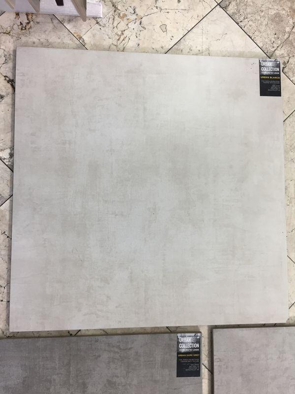 24x24 Beige Concrete Looking Rectified Porcelain Tiles