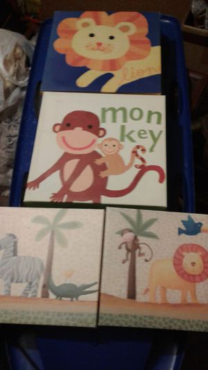 Nursery pictures and car/stroller mirror toy for Sale in Tacoma, WA