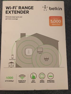 Belkin WiFi Range Extender Router Extender BRAND NEW GET WIFI WHERE YOU CAN'T for Sale in Port St. Lucie, FL