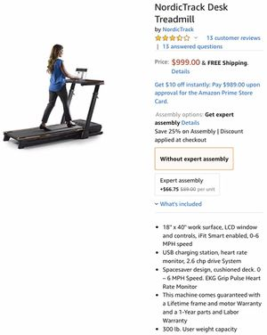 NordicTrack desk treadmill for Sale in Keene, TX