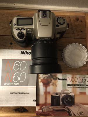 Nikon n60 film camera for Sale in Jurupa Valley, CA
