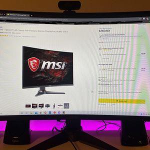 MSI Optix 27 Curved FHD Monitor for Sale in Seattle, WA