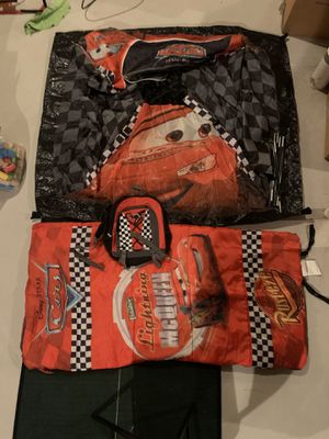 Cars Tent, Sleeping Bag & Backpack for Sale in Northville, MI