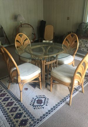 Glass table with four chairs for Sale in Lombard, IL