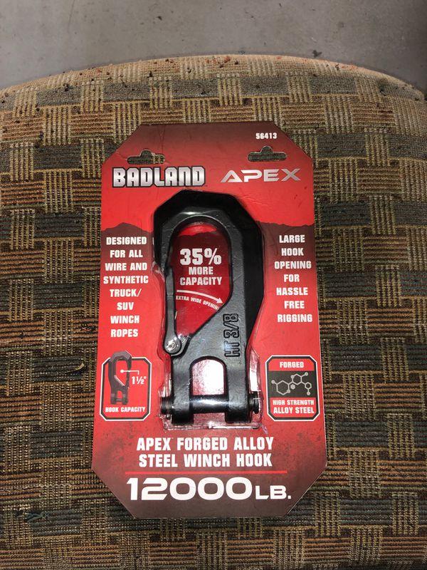 BADLANDS APEX 12,000LB. Forged alloy steel winch hook