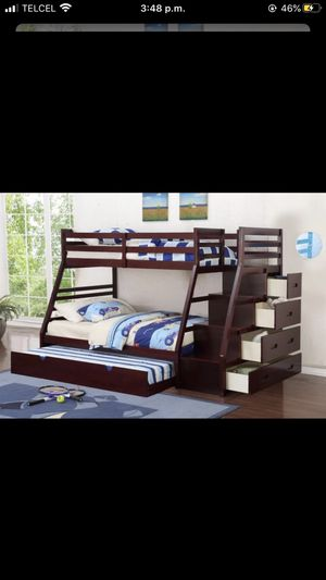 New 3 twins bunk bed with mattress for Sale in Missouri City, TX