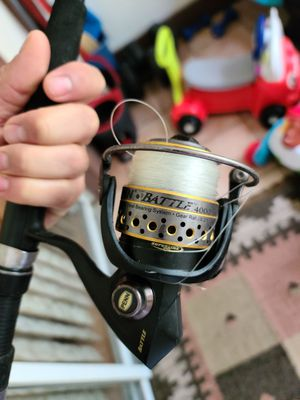 penn battle fishing reel with rods for Sale in Fort Lauderdale, FL