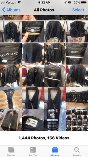 Several real leather jackets, vest and chaps prices and and sizes on pictures. for Sale in Gallatin, TN