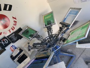 6 Color Ranar Screen printing Manual and Riley Cure (3 Racks&Screens) for Sale in Las Vegas, NV