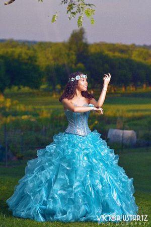 Turquoise Quinceañera Dress for Sale in Alexandria, VA