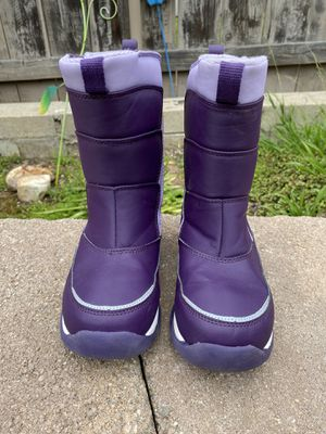 Lands' End Girls Snow Flurry Winter Snow Boots Purple Youth Kids Size 3M for Sale in La Mesa, CA