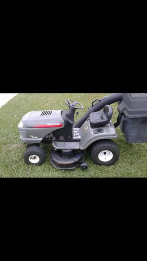Riding lawn mower tractor with dual bagger system for Sale in Tampa, FL