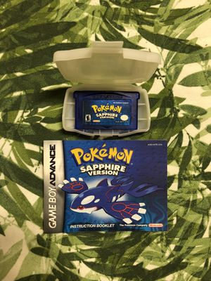 Pokémon Sapphire - Nintendo Game Boy Advance - Tested for Sale in Warwick, RI