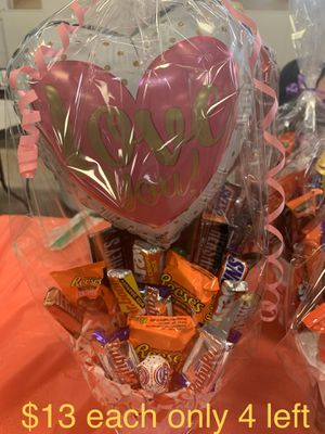 Candy bouquets with a balloon for Sale in Lynn, MA