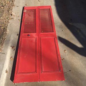 Red Metal Louvre Door for Sale in Jenks, OK