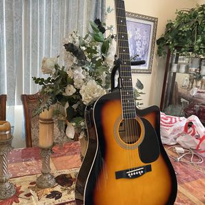 sunburst fever electric acoustic guitar with metal strings for Sale in Downey, CA