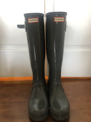 Gray Hunter Rain Boots - Women's Size 9 for Sale in Alexandria, VA