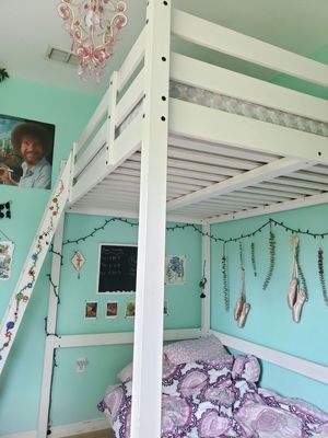 Loft bed frame, full/ double for Sale in St. Petersburg, FL