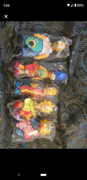 Set of Simpsons dolls from Burger King for Sale in Bristol, TN