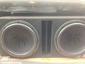 Subwoofers amp battery 12 inch tarantula series for Sale in Tacoma, WA