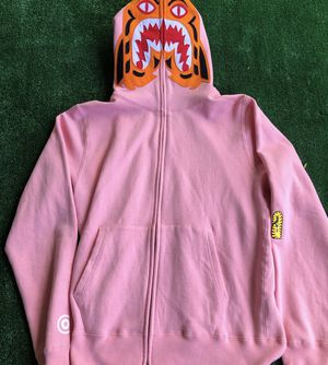 Bape Tiger Full Zip Hoodie Pink Size Large for Sale in Fresno, CA