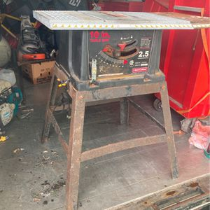 Craftsman Table Saw Workshop Tool for Sale in Fort Lauderdale, FL