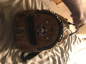 Deluxe mcm bag large studded rare bag for Sale in Las Vegas, NV